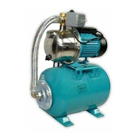 Wasserpumpe 1100W 60l/min 24 bis 100L Druckbehälter Gartenpumpe Hauswasserwerk Set