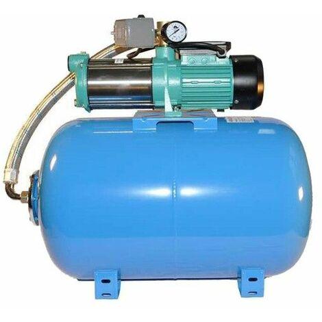 Wasserpumpe 130 l/min 1,3 kW 230V mit 50 bis100L Druckkessel Jetpumpe Gartenpumpe Hauswasserwerk Kreiselpumpe
