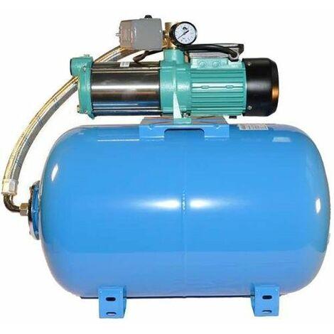 Wasserpumpe 130 l/min 2 kW 230V mit 50 bis 100L Druckkessel Jetpumpe Gartenpumpe Hauswasserwerk Kreiselpumpe