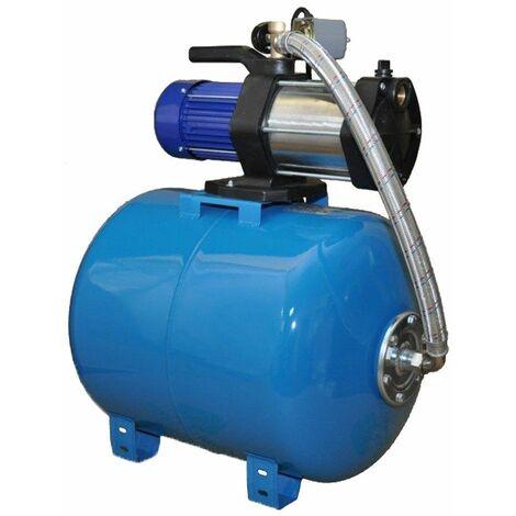 Wasserpumpe 1300W 90l/min 24 l Druckbehälter Gartenpumpe Hauswasserwerk Set