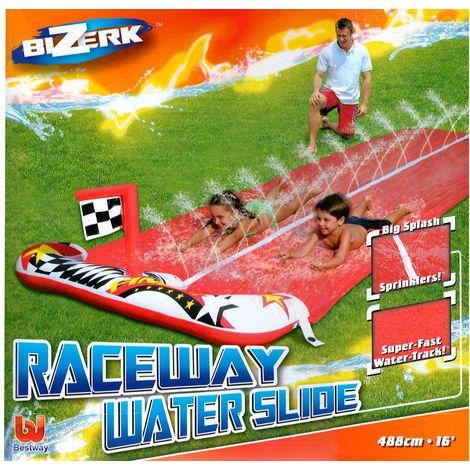 Wasserrutsche Wasser Rutsch Bahn 488 cm 2 Personen BESTWAY