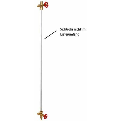 Wasserstandanzeiger Set 1/2'' Messing mit Metall Handrad für Windkessel