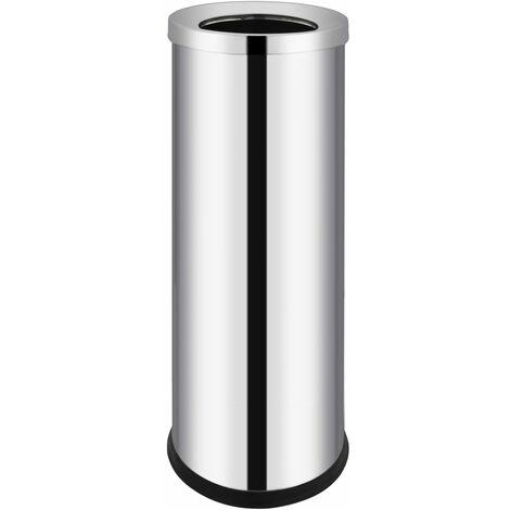 Waste Bin Hotel Stainless Steel 32 L - Silver
