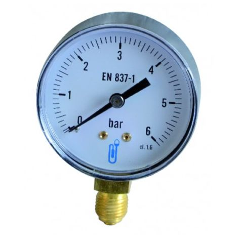 Water & air pressure gauge 0/6 bar ø63mm