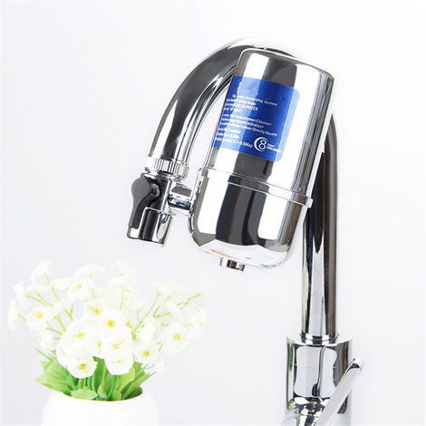 Water Filter Kitchen Sink Bathroom Faucet Clean Mount Filtration Faucet
