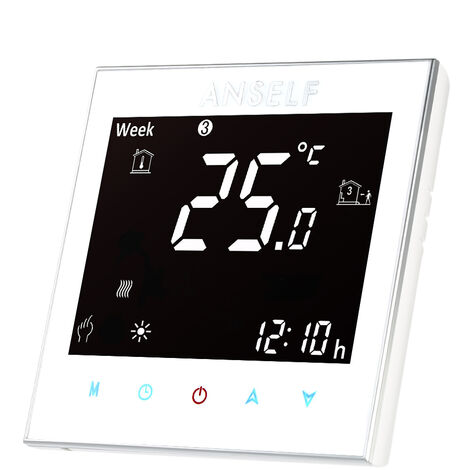 Water heating temperature controller white