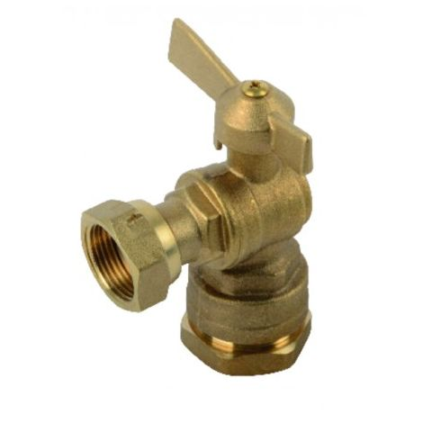 Water meter isolation ball valve angled for PE tube 3/4?