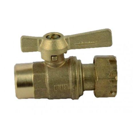 Water meter isolation ball valve straight FF 1/2? 3/4?