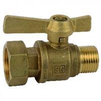 Water meter isolation ball valve straight MF 3/4?