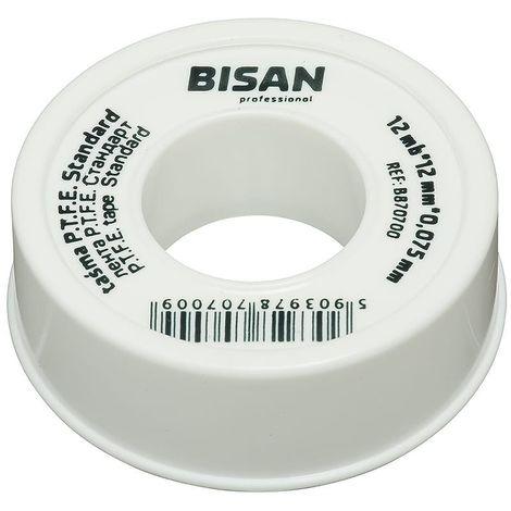 Water Plumbers Teflon White PTFE Tape Thread Seal Leak Fix 12m x 12mm x 0.075mm