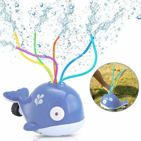 Water Sprinkler Toys, Whale Water Sprinkler for Kids, Sprinkler Kinder, Splash Play Toy, for Kids Summer Outdoor Play Outdoor Play, Spray Water Toy for Toddlers Boys Girls Pets (Violet)