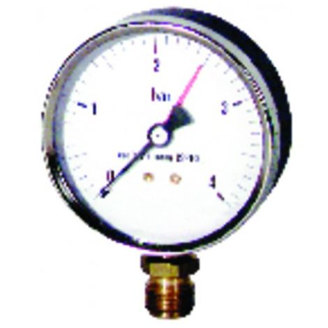 Water steam manometer 0 4 bars ø80mm m3/8""