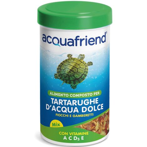 Water turtle food with a mix of shrimps and flakes 250 ml