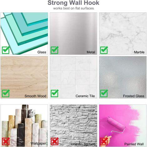 Waterproof Adhesive Hook Towel Hook 5kg Max Stainless Steel Bathroom Wall Hook Self Adhesive Towel Rack Kitchen Hooks and Hooks for Home, 18 x 4.5cm