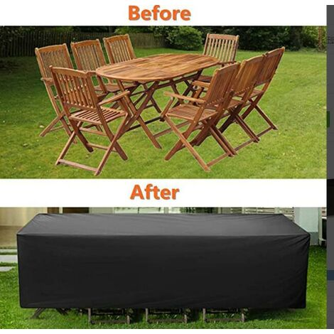 """main image of """"Waterproof and dustproof furniture cover outdoor square garden table and chair cover 123 * 123 * 74CM"""""""