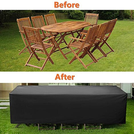 """main image of """"Waterproof and dustproof furniture cover outdoor square garden table and chair cover 180 × 120 × 74CM"""""""
