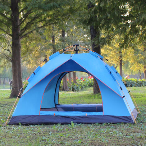 Waterproof Anti-UV Tent 200x210x135cm sky blue Outdoor Family Camping Hiking Fishing 3-4 Person