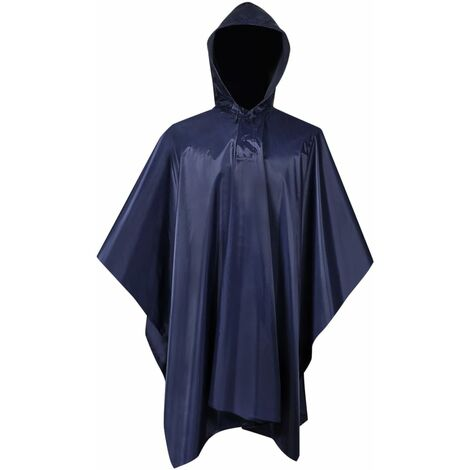 Waterproof Army Rain Poncho for Camping/Hiking Navy Blue