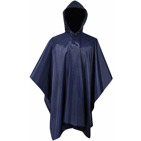 Waterproof Army Rain Poncho for Camping/Hiking Navy Blue QAH00514