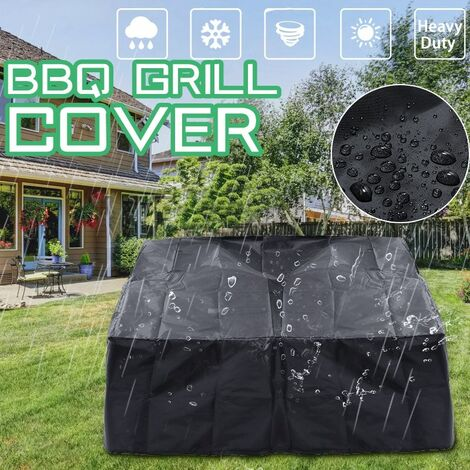 Waterproof Black Gas Grill Cover Barbecue Grill Protection Outdoor Garden Patio 86X86cm WASHED