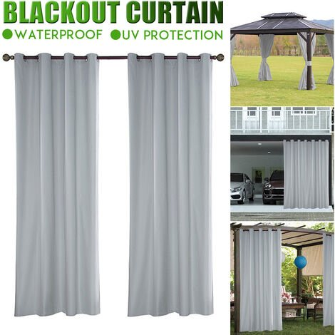 Waterproof Blackout Curtains Eyelet Ring Top Home Office Window Curtain(1pc 137 x 275 cm)