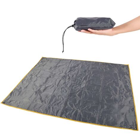 Waterproof Camping Tent Tarp , 4 in 1 Tent Footprint Multifunctional for Camping Hiking Survival Tarp, Lightweight Compact(208*208cm)