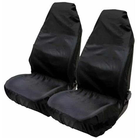 Waterproof covers for universal car seats (pack of 2) 132 X 54cm Black