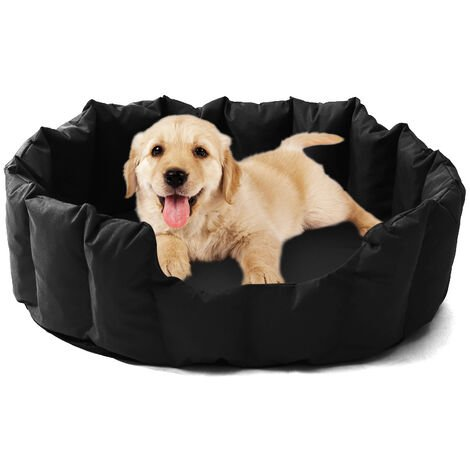 Waterproof Dog Bed Pet Puppy Cat Basket Soft Cushion Black