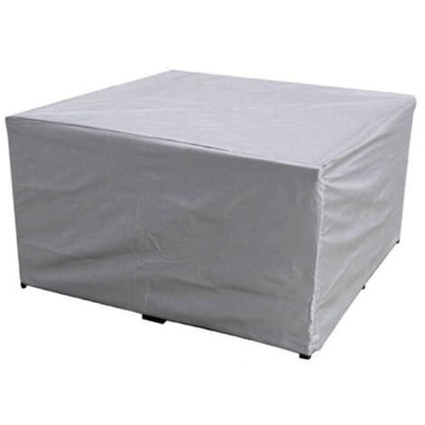 Waterproof Furniture Sofa Cube Chair Table Cover silver 250x200x80cm