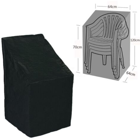 Waterproof Garden Furniture Cover, Furniture Protective Case, Table Garden Case, Sofas, Reclining Armchairs, Chairs, Black 64 * 64 * 120 / 70cm----