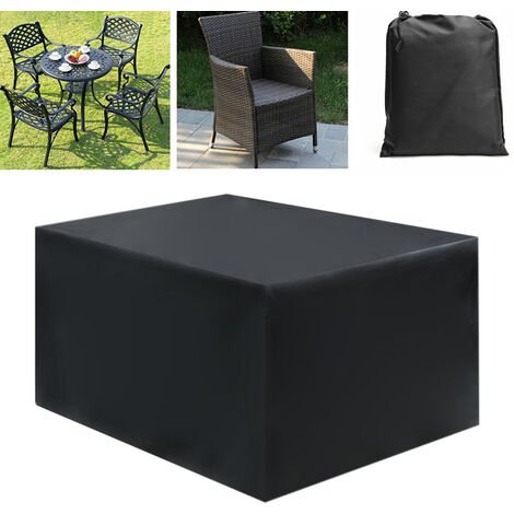 Waterproof Garden Rattan Sofa Furniture Set Rain Cover for 4 Seater Outdoors