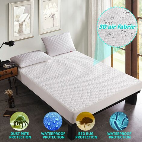 Waterproof Jacquard Cloudy Matress Topper Protector Cover Pad Hypoallergenic against dust mites (single)