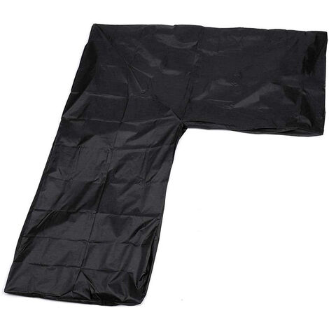 """main image of """"Waterproof L Shape Furniture Cover Outdoor Garden Sofa Protective Cover Black"""""""