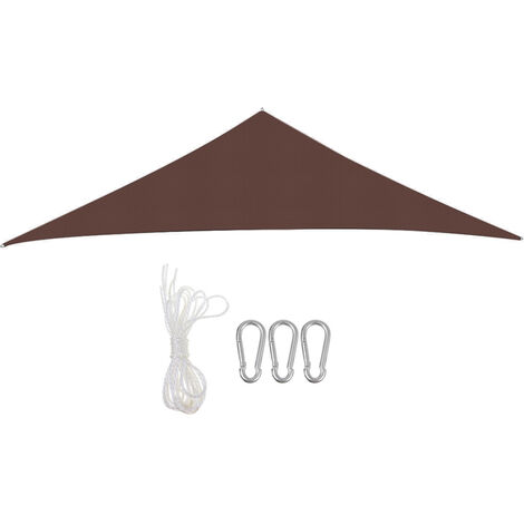 Waterproof Large Shade Sails Awning Canopy Cover coffee Triangle 3M