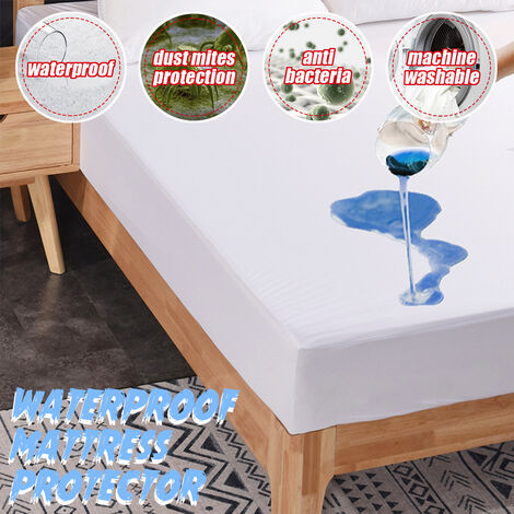 Waterproof mattress topper cover Hypoallergenic against dust mites (single)