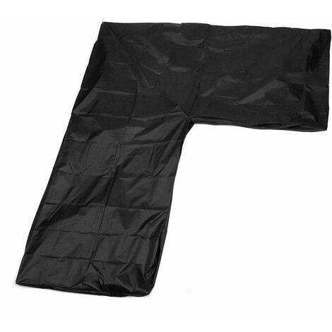 Waterproof Outdoor Garden Furniture Corner Cover Rattan L Shape Sofa Protector WASHING - Noir
