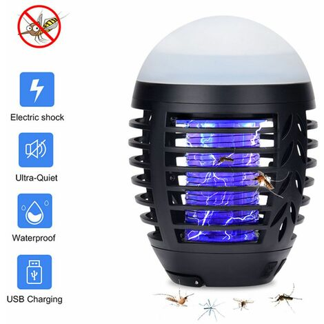 Waterproof outdoor mosquito lamp electric shock mosquito lamp USB multifunctional mosquito repellent lamp