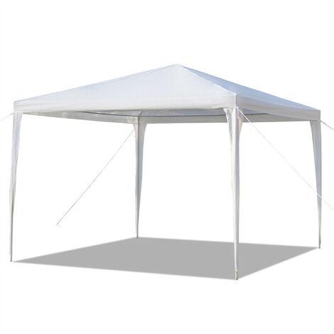 Waterproof PE Gazebo, Portable Heavy Duty Canopy Tent for Garden Market Stalls Party Wedding Beach Outdoor (3m x 3m)