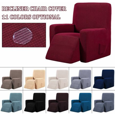 Waterproof Reclining Wing Chair Sofa Couch Soft Protective Cover 6 Colors (Beige)