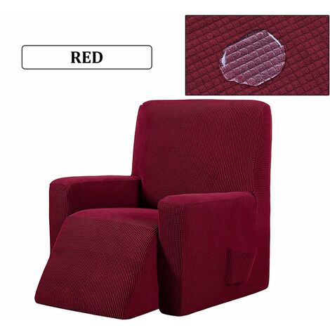 Waterproof Reclining Wing Chair Sofa Couch Soft Protective Cover 6 Colors (winered)