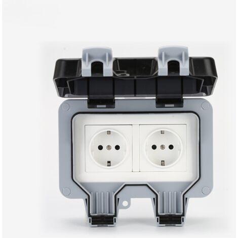 """main image of """"Waterproof Socket Double Outdoor Electrical Socket IP66 Waterproof Wall Socket 16A"""""""