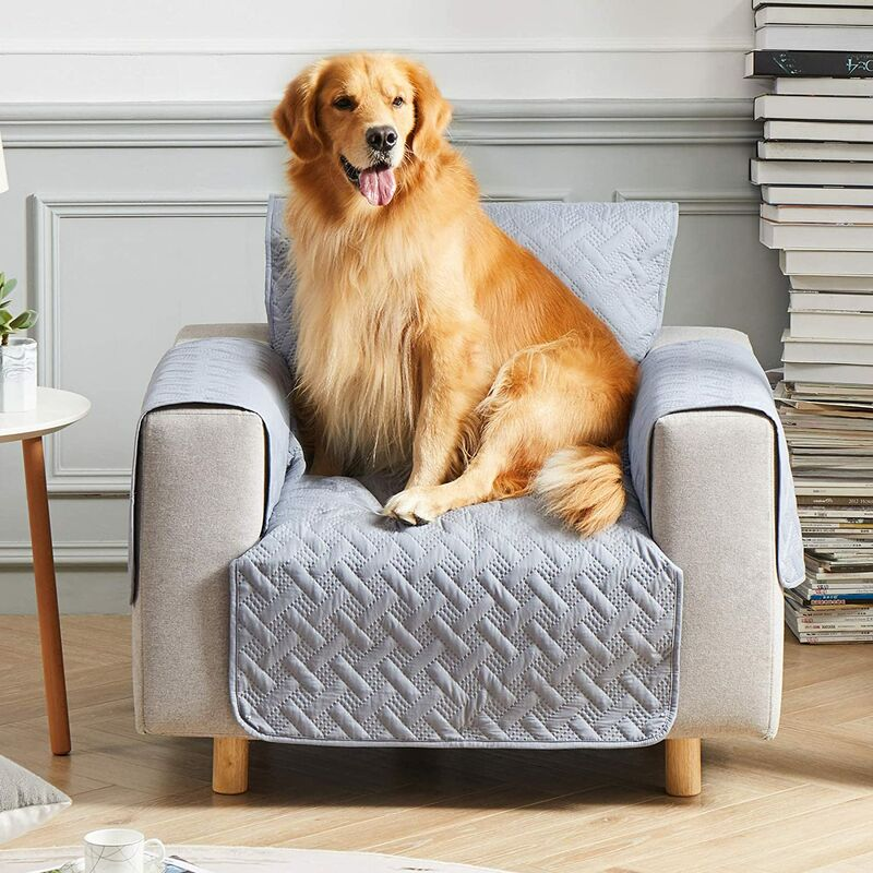 Waterproof Sofa Slipcover, Pet Furniture Cover Sofa Pet Cover Washable Couch Cover for 3 Cushion with Non Slip Bottom for Kids Pets Dog Cat?Sofa,Gray?