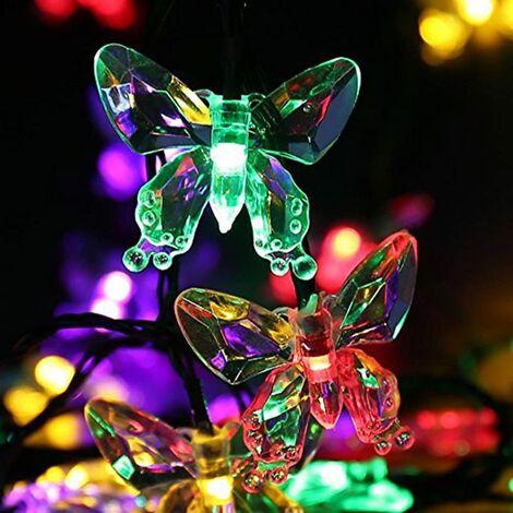Waterproof Solar LED String Lights 20 LED Butterflies Waterproof Outdoor 4.5m Multicolored Light [Energy class A +]