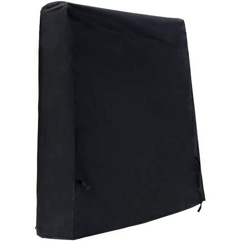 Waterproof Table Tennis Table Cover Outdoor Ping Pong Table Cover 420D Oxford Cloth Black (165 x 70 x 185 cm)