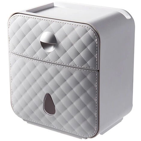 Waterproof Toilet Paper Drawer Roll Holder Wall-mounted Tissue Dispenser