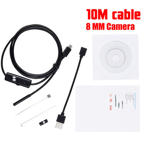 Waterproof USB LED Borescope IP68 Endoscope Camera Inspection For Android PC