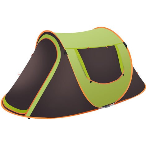 Waterproof UV Resistance Auto Setup Large Camping Tent Sun Shelters green 5-8 Person 280x200x120CM