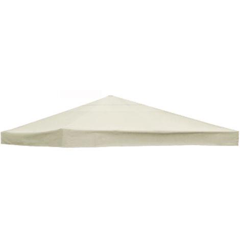 Waterproof White Garden Gazebo Top Cover Replacement Fabric Tent 3X3M