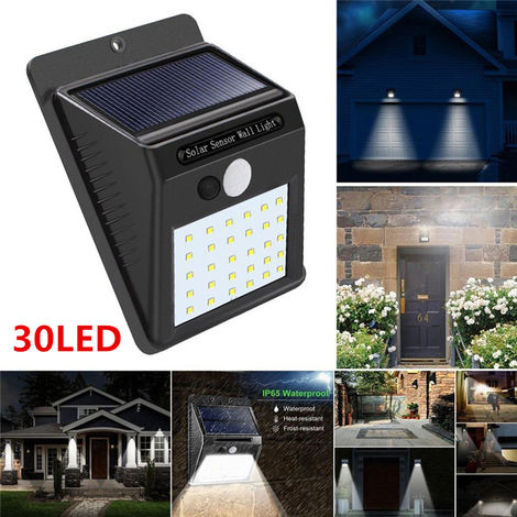Waterproof Wireless Pir Solar Motion Sensor Outdoor Lights, 30Led Auto On / Off Security Lights For Path Patio Yard Terrace Deck Porch Garden Fence