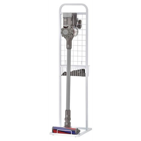 WATSON- Cordless Vacuum Stand and Accessory Basket - White